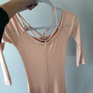 Peach/ light pink long sleeve